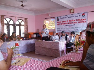 Nepal FOs workshop on value chain & market linkages
